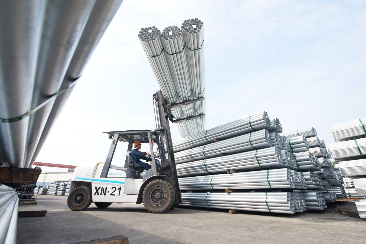 Nhà máy sản xuất ống thép Hòa Phát. Ảnh: Hòa Phát.