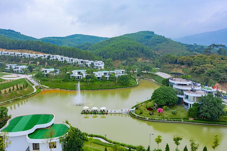 Một góc không gian dự án Ivory Villas & Resort giai đoạn một.