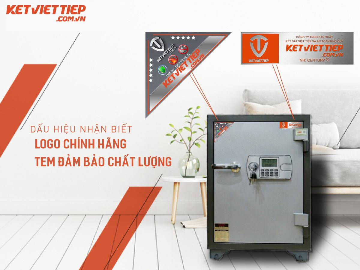 Thiết kế tem sắt và tem đảm bảo chất lượng mới của két sắt Việt Tiệp.