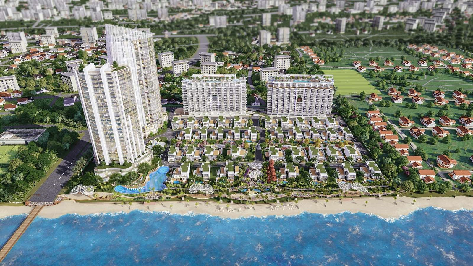 Toàn cảnh dự án Aria Vũng Tàu Hotel & Resort. Ảnh phối cảnh: Tập đoàn Danh Khôi.