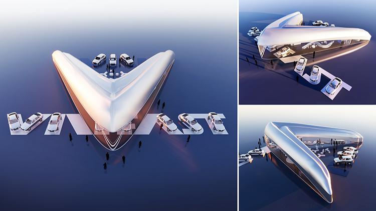 Thiết kế đạt giải nhất trong cuộc thi Thiết kế Showroom VinFast toàn cầu.