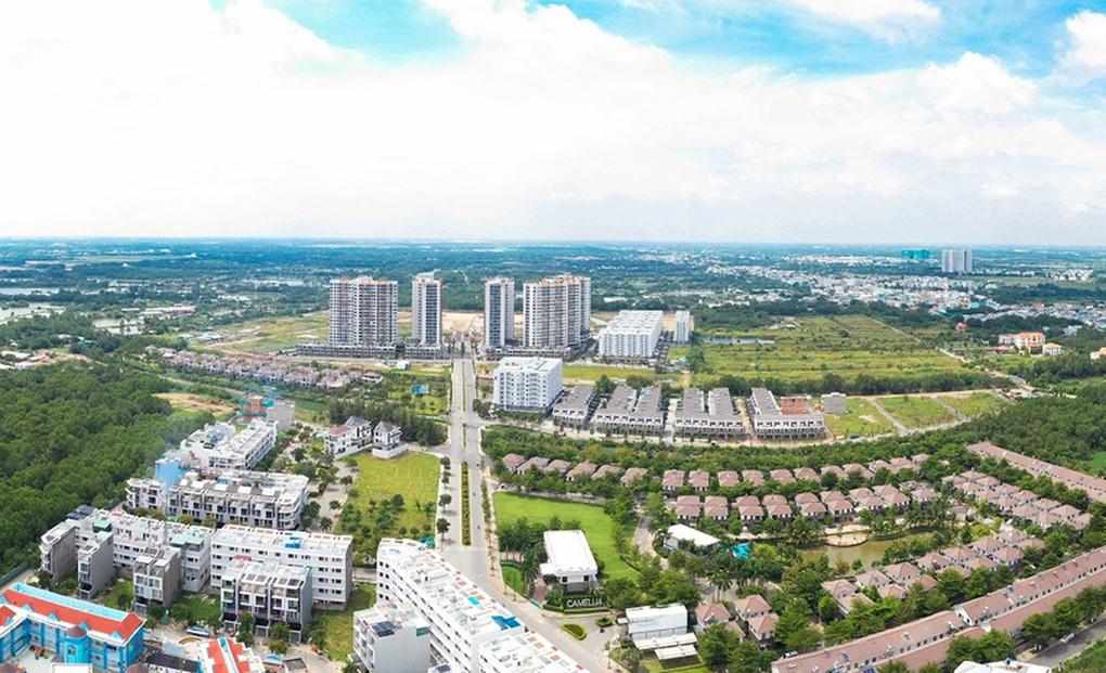 Khu đô thị quy mô 26 ha do Nam Long phát triển, kết nối với đại lộ Nguyễn Văn Linh, TP HCM, có nhiều loại nhà ở vừa túi tiền. Ảnh:Nam Long.