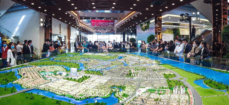 Khu đô thị sinh thái thông minh Aqua City, quy mô 1.000 ha giữ được sức nóng kể từ khi ra mắt thị trường. Ảnh: Novaland.
