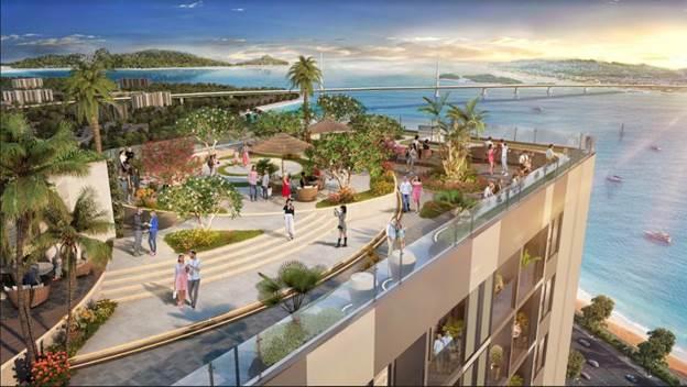 Tọa lạc tại KĐT Cao Xanh - Hà Khánh A, The Ruby Hạ Long được coi là tâm điểm mới của làn sóng second home.