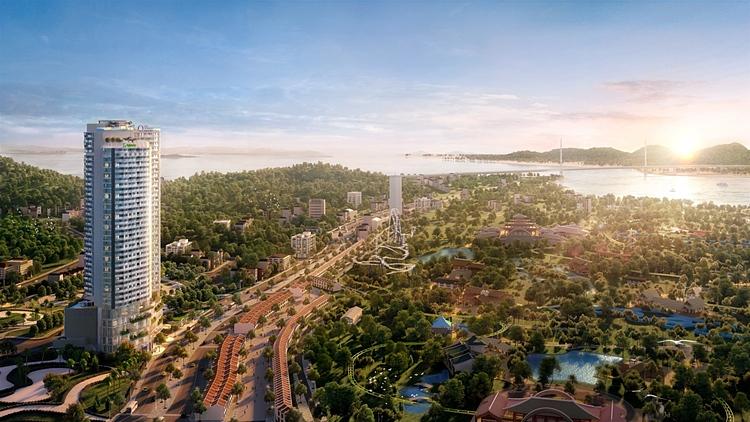 Đường Hạ Long - trục chính trung tâm của Hạ Long, cung đường của những khách sạn quốc tế.