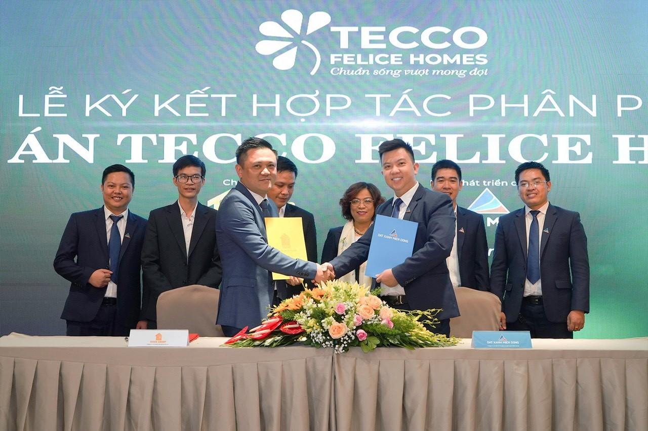 Đất Xanh Miền Đông hợp tác Tecco Group phát triển thị trường Bình Dương
