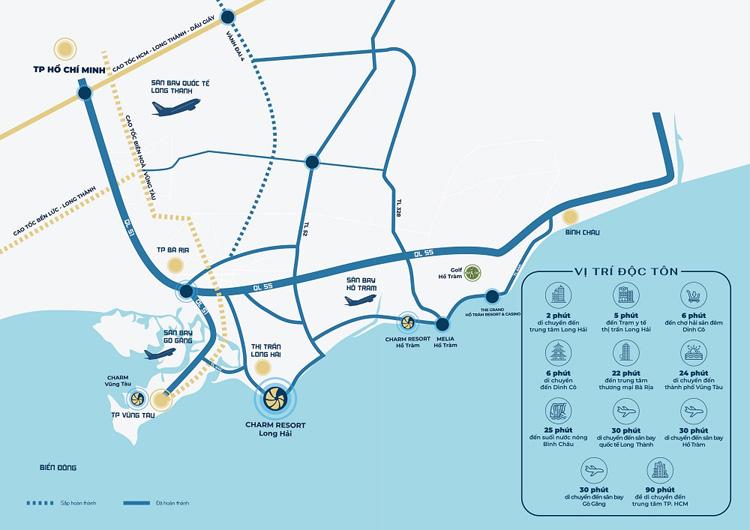 Charm Resort Long Hải nằm ở vị trí đắc địa.