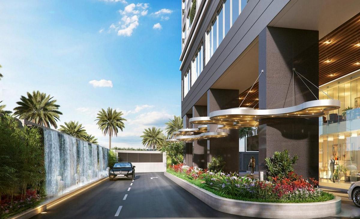 Phối cảnh sảnh đón như khách sạn 5 sao của dự án căn hộ hạng sang vừa công bố giá bán 18.000 USD một m2.