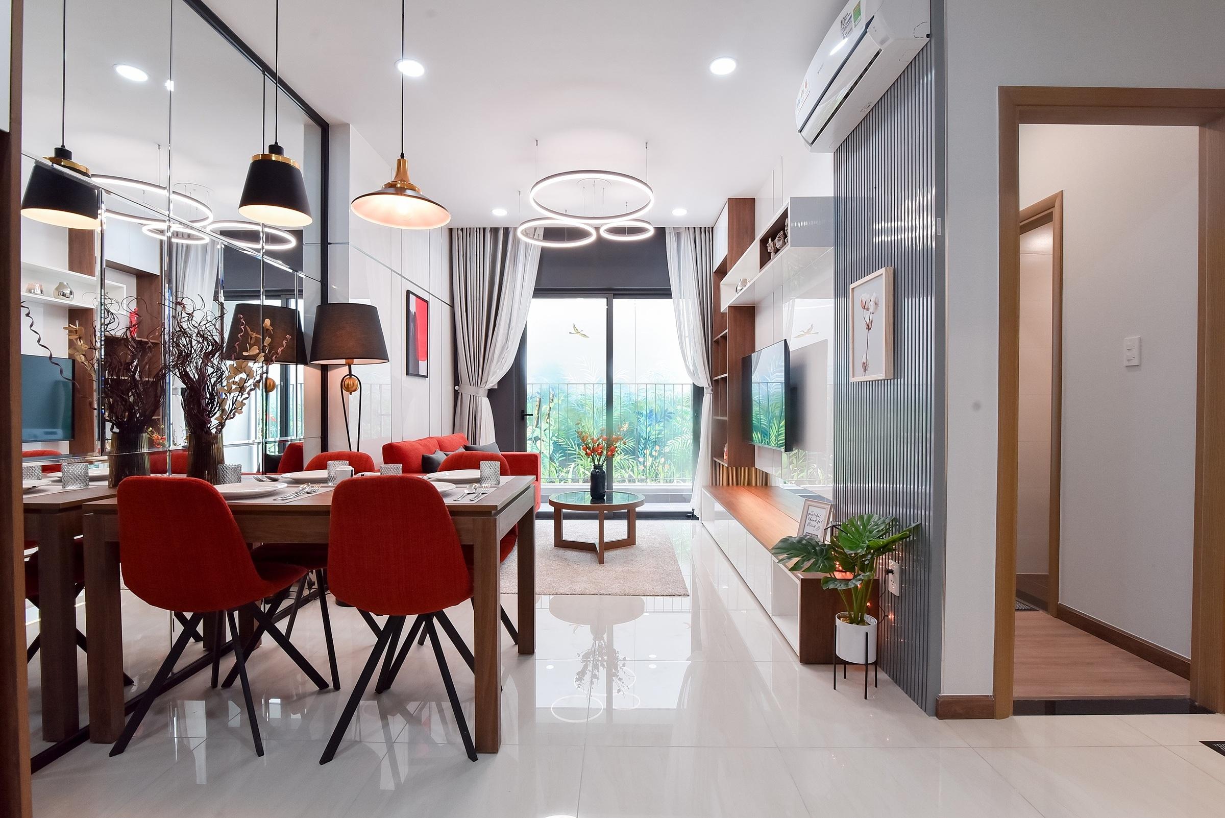 Tại đây, Tập đoàn Bcons gợi ý cho quý khách hàng các phong cách bày trí căn hộ mình sẽ sở hữu. Theo phong cách hiện đại, căn hộ sẽ tối ưu tính tiện nghi. Dù loại một phòng ngủ hay hai phòng ngủ, không gian sinh hoạt đều rộng rãi.