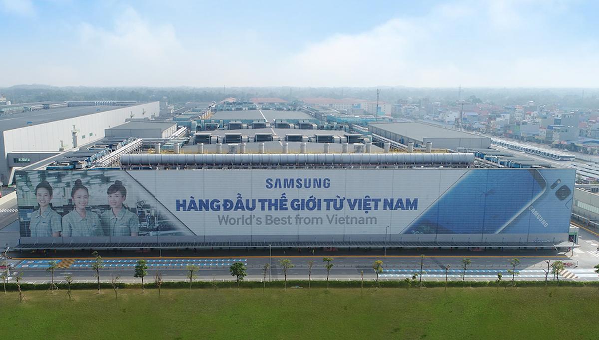 Nhà máy sản xuất linh kiện và lắp ráp thiết bị di động Samsung Thái Nguyên. Ảnh: Samsung Việt Nam