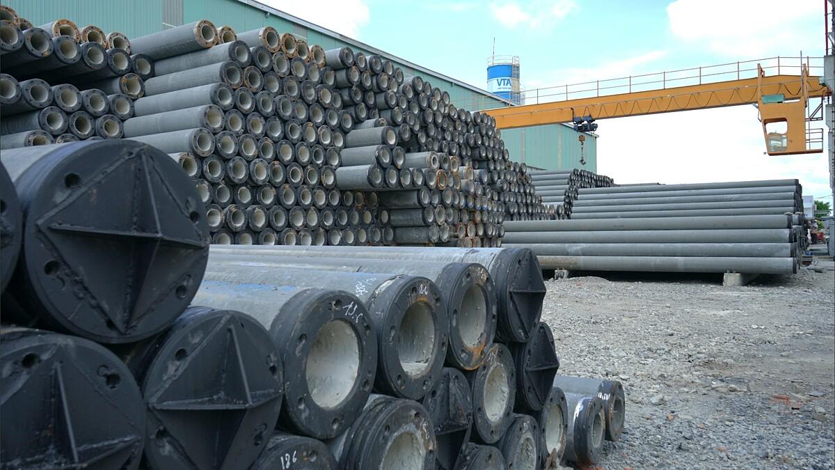 Thép dự ứng lực, cung cấp cho các nhà máy bê tông cọc phục vụ ngành cầu đường - một sản phẩm của Thiên Nam Group. Ảnh: Thiên Nam Group