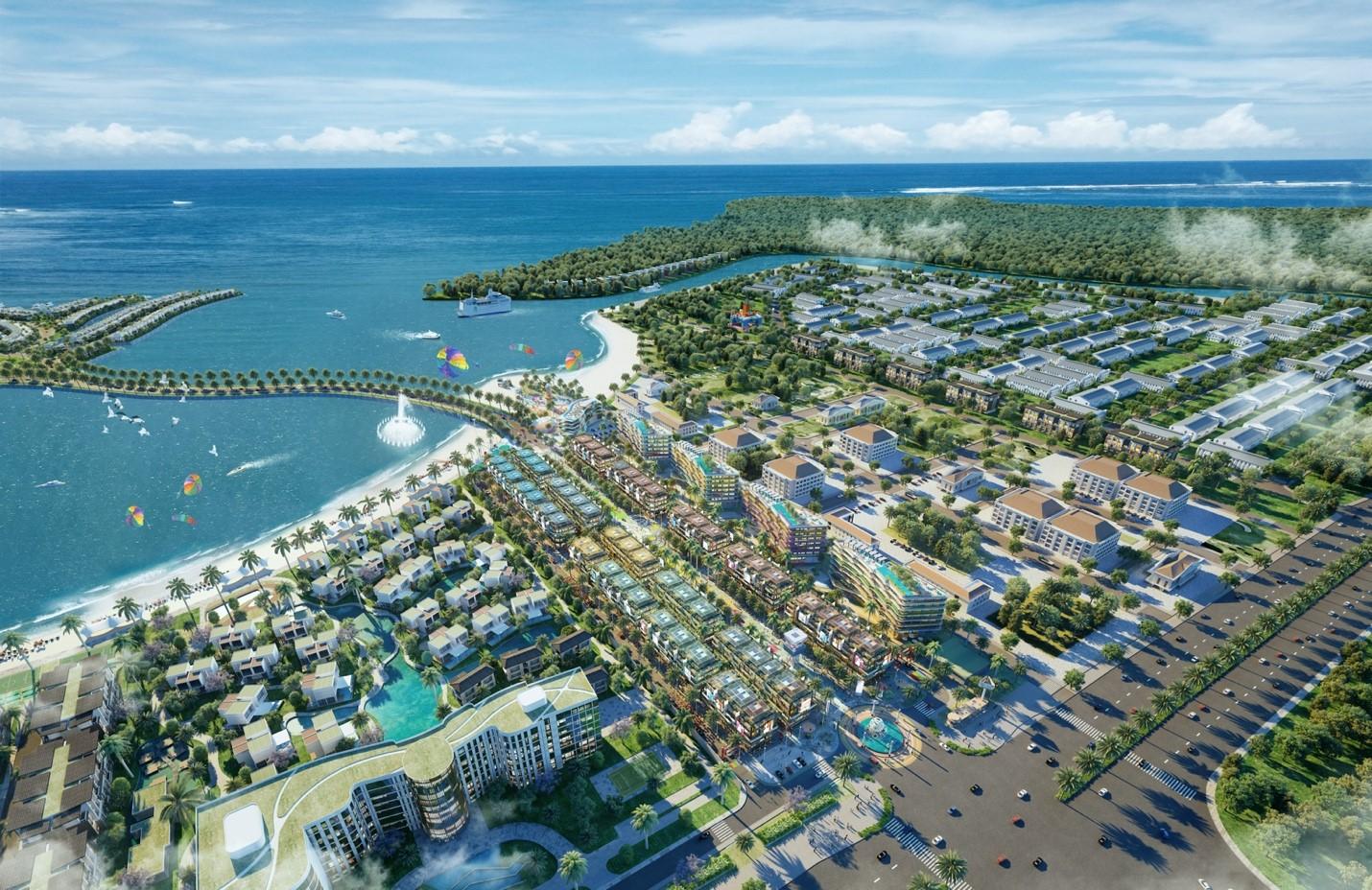Shophouse Selashine kề cận biển, có khả năng thu hút nhiều khách du lịch. Ảnh phối cảnh: TTC Phú Quốc.