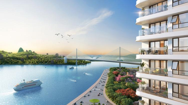 View nhìn trực diện ra biển tại Best Western Premier Sapphire Ha Long.