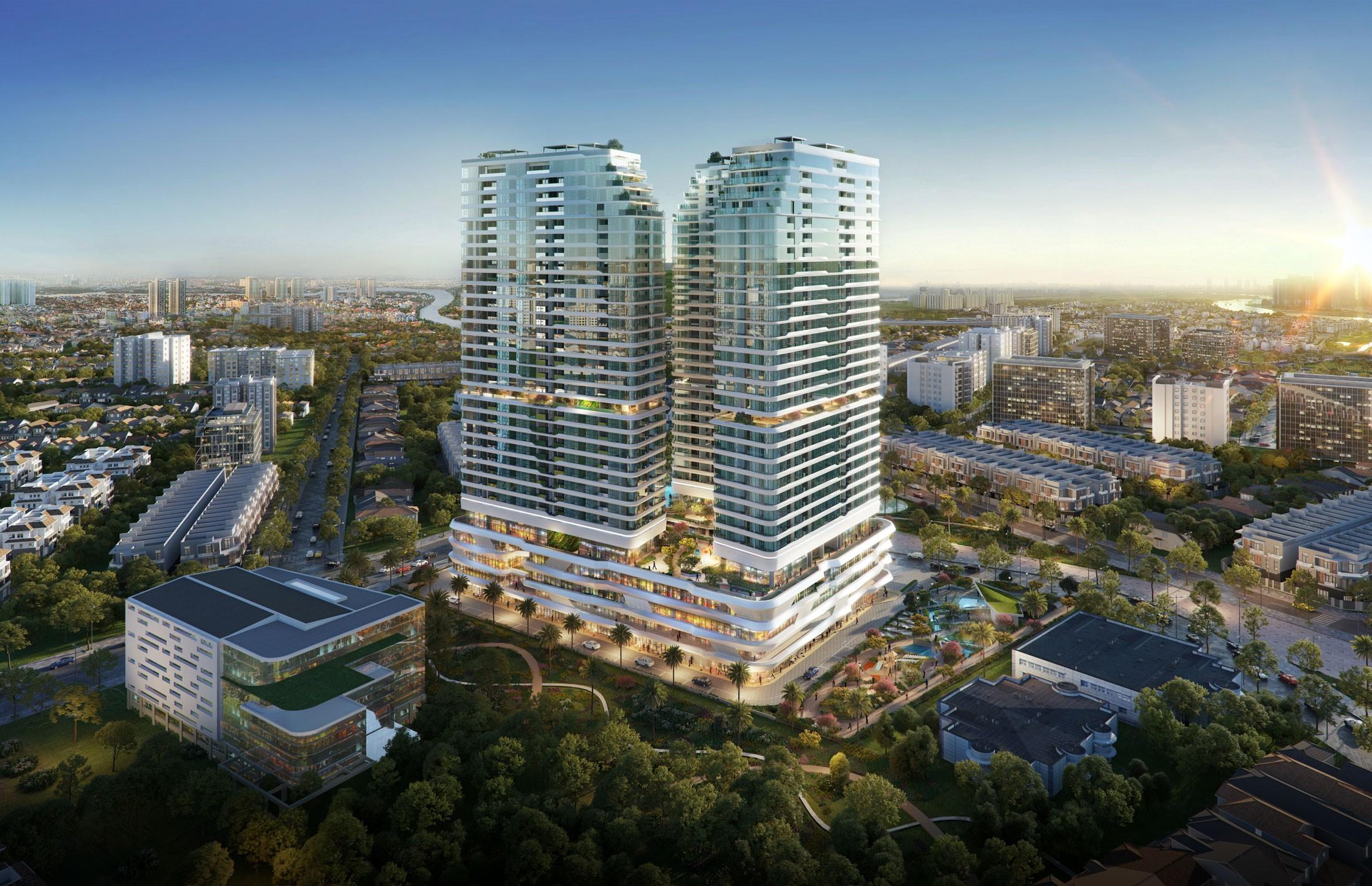 Dự án King Crown Infinity tọa lạc tại trung tâm thành phố Thủ Đức đang thu hút sự quan tâm của thị trường. Ảnh phối cảnh: BCG Land.