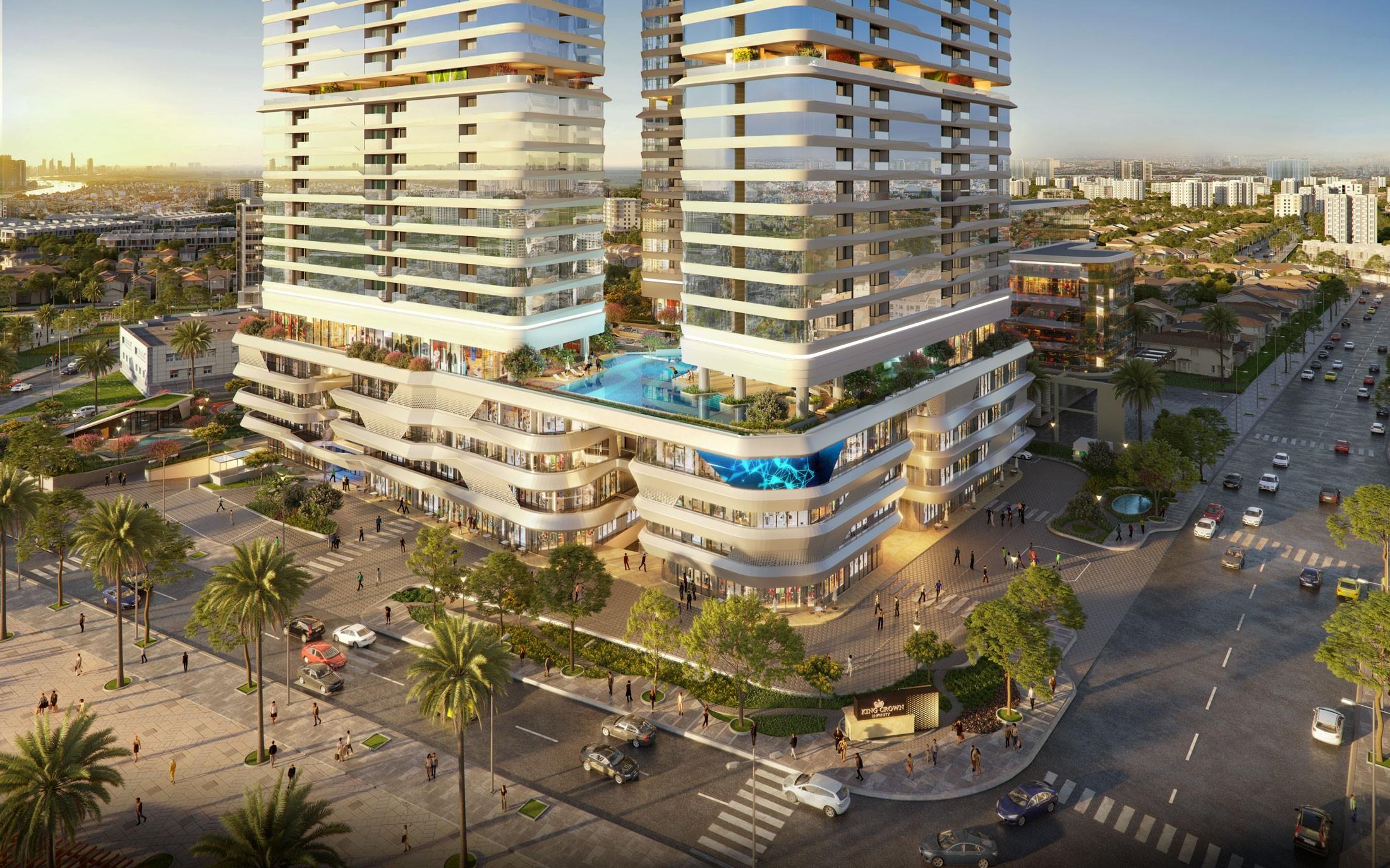 King Crown Infinity hứa hẹn là điểm đến thu hút cư dân và cả cộng đồng trong khu vực. Ảnh phối cảnh: BCG Land.