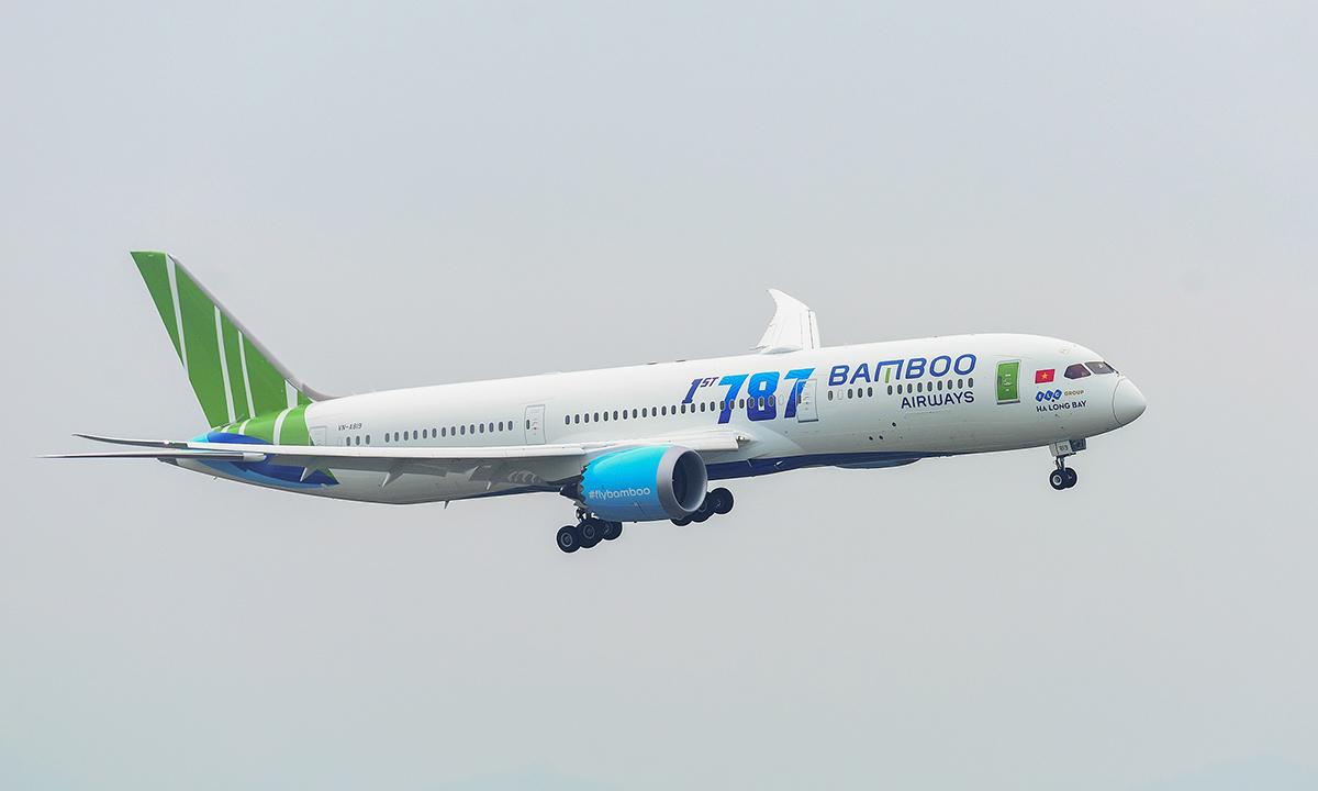 Một máy bay Boeing 787-9 của Bamboo Airways.