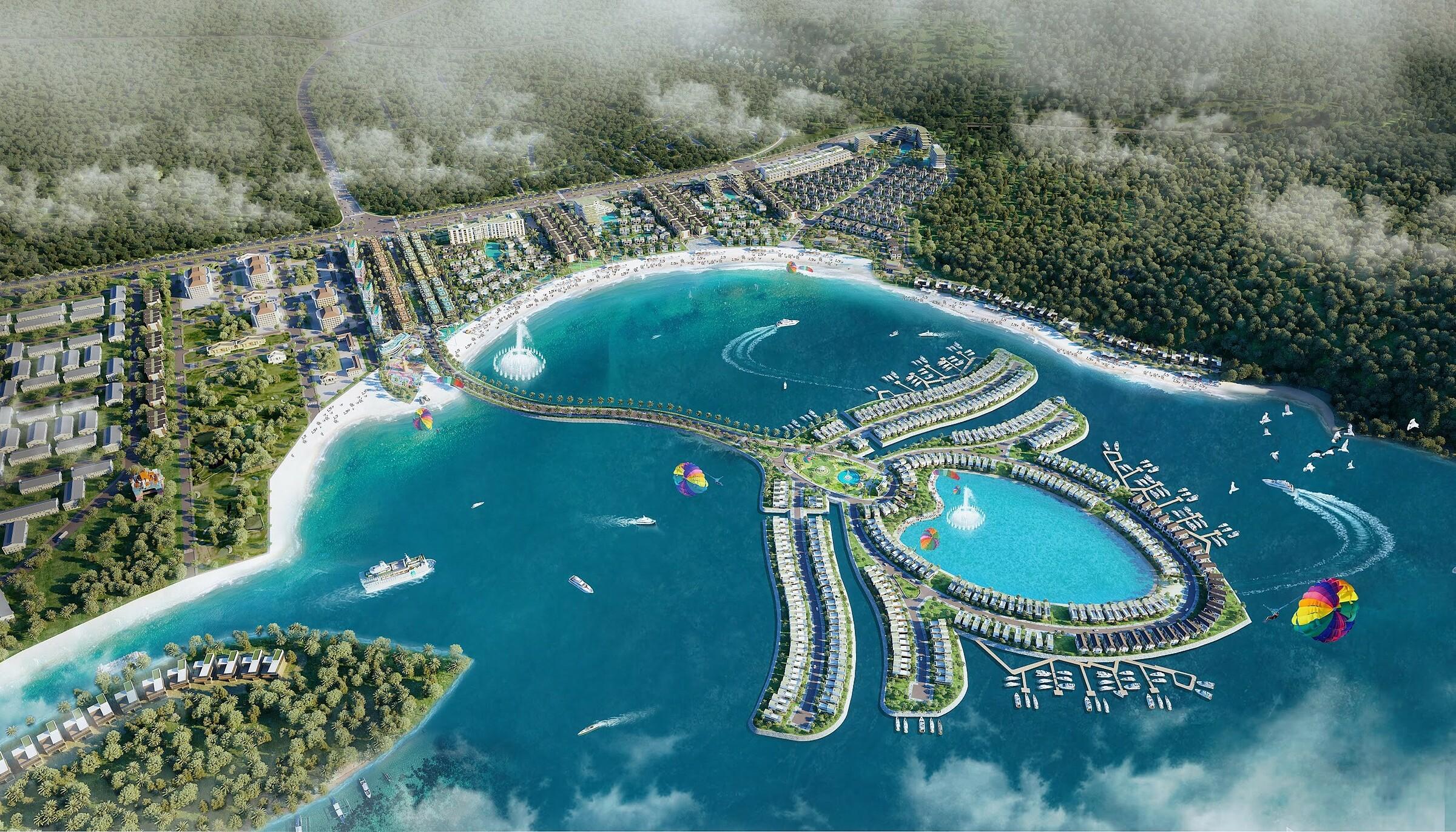 Phối cảnh phân khu đảo hoa sen nhân tạo tại dự án Selavia. Ảnh: TTC Phú Quốc.