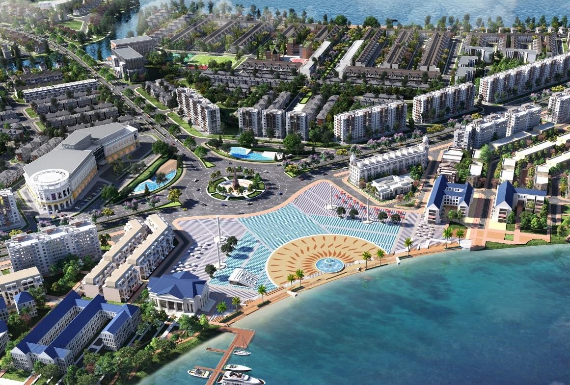 Châu Á được chuyên gia đánh giá sẽ là nơi trỗi dậy mạnh mẽ của xu hướng đô thị sinh thái thông minh. Ảnh phối cảnh không gian sống xanh hiện tại đô thị Aqua City của tập đoàn Novaland.