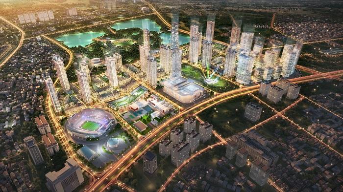Phối cảnh dự án The Manor Central Park - một trong những khu đô thị tiêu biểu tại Tây Nam Hà Nội.