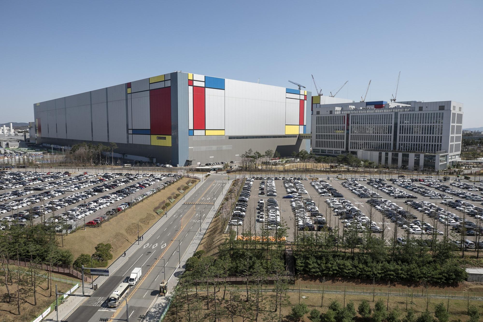 Nhà máy bán dẫn của Samsung Electronics tại Pyeongtaek, Hàn Quốc. Ảnh: Bloomberg.