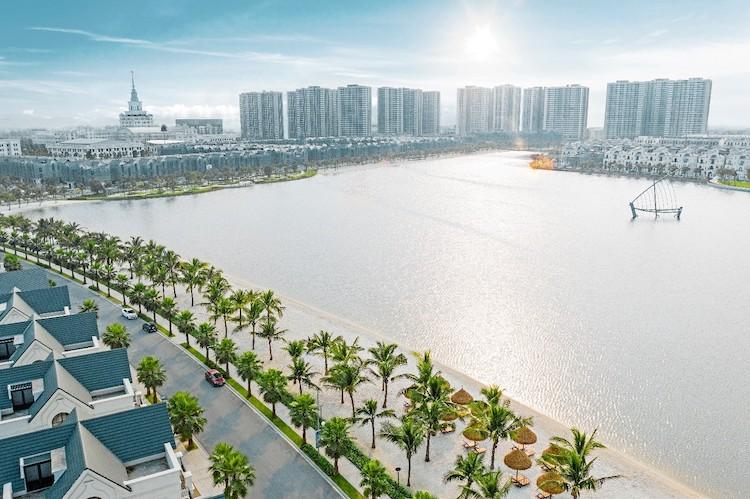 Phối cảnh một khu đô thị all in one tại Hà Nội.