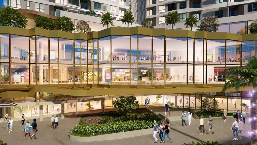 D-Mall is located in the middle of the expensive land of District 6 on Hong Bang Street, close to Cay Go roundabout.  Perspective photo: DHA Corp.