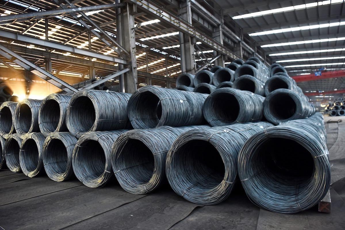 Thép cuộn tại Công ty Thép Hoà Phát. Ảnh: Anh Minh