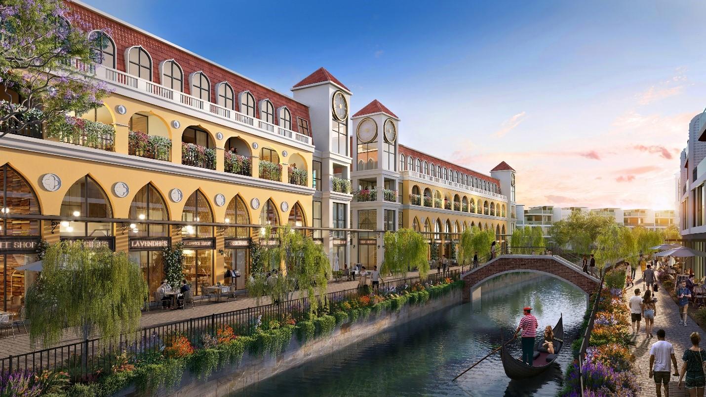 Phối cảnh phân khu The Venice thuộc dự án Venezia Beach. Ảnh: Hưng Vượng Developer.