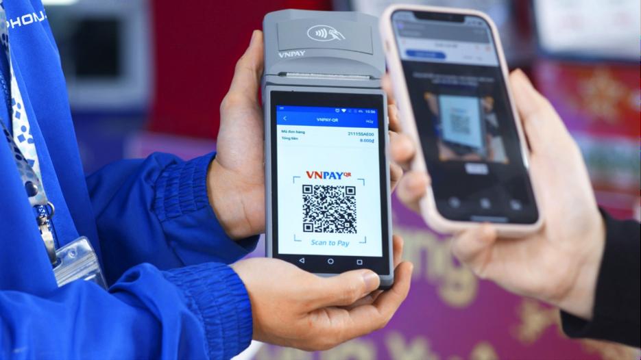 Thanh toán đa dạng bằng nhiều phương thức trên thiết bị SmartPOS của VNPAY.