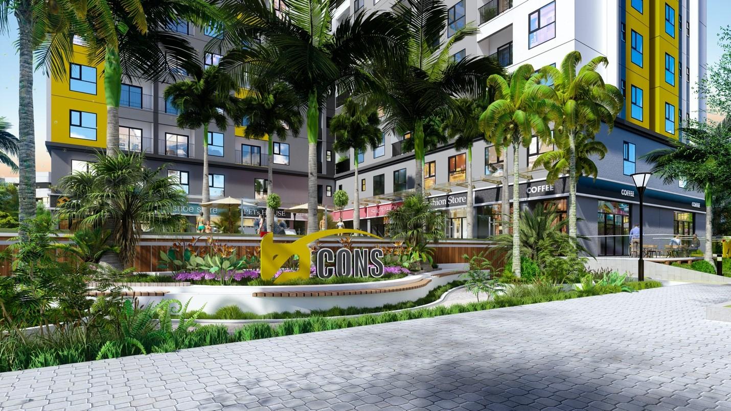 Không gian sống tiện nghi là ưu tiên hàng đầu của người mua nhà để an cư. Ảnh phối cảnh: Bcons.