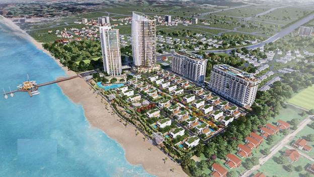 Dự án Aria Vũng Tàu Hotel & Resort hướng trực diện ra biển. Ảnh phối cảnh: Tập đoàn Danh Khôi.