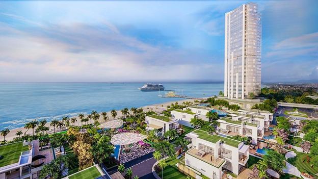 90% căn hộ tại Aria Vũng Tàu có tầm nhìn hướng biển. Ảnh phối cảnh: Tập đoàn Danh Khôi.