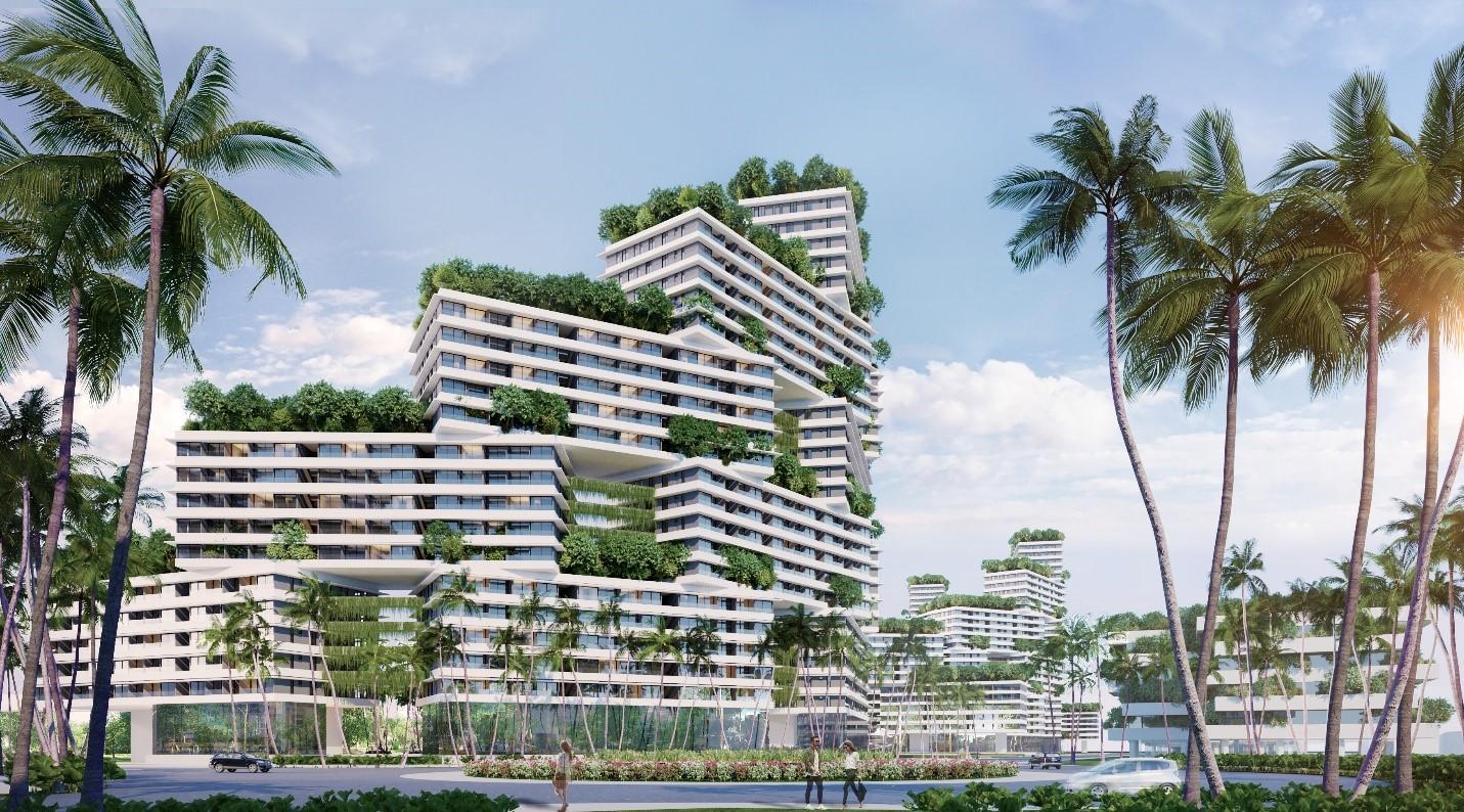 Du khách có thể tận hưởng kỳ nghỉ đẳng cấp tại căn hộ biển Wyndham Coast với phong cách thiết kế hiện đại, năng động và độc đáo. Ảnh phối cảnh: Nam Group.