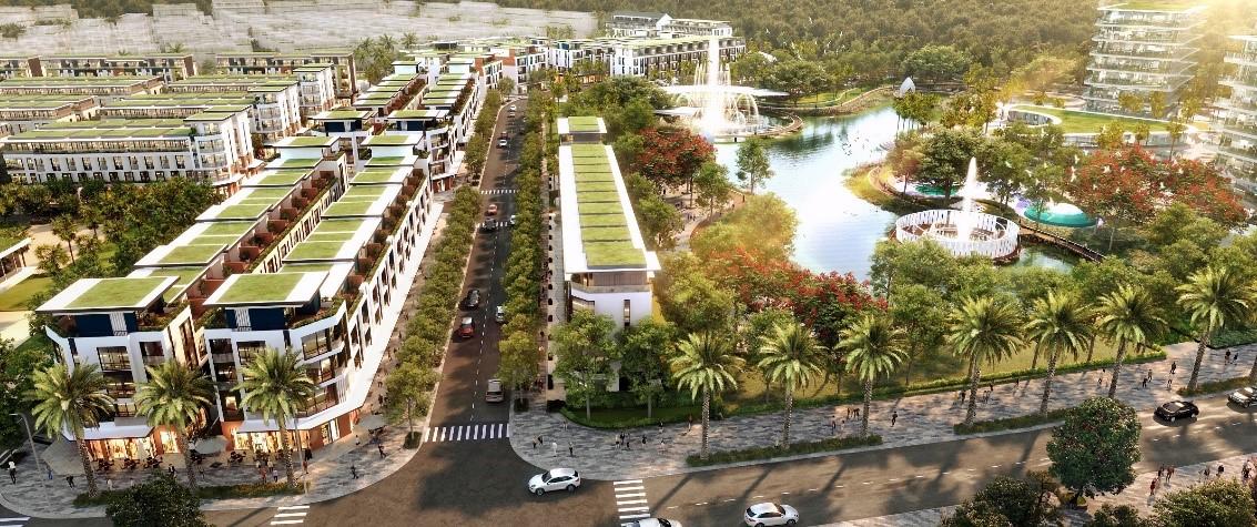 Phối cảnh công viên hồ tại phân khu Olive. Ảnh: Tân Á Đại Thành.