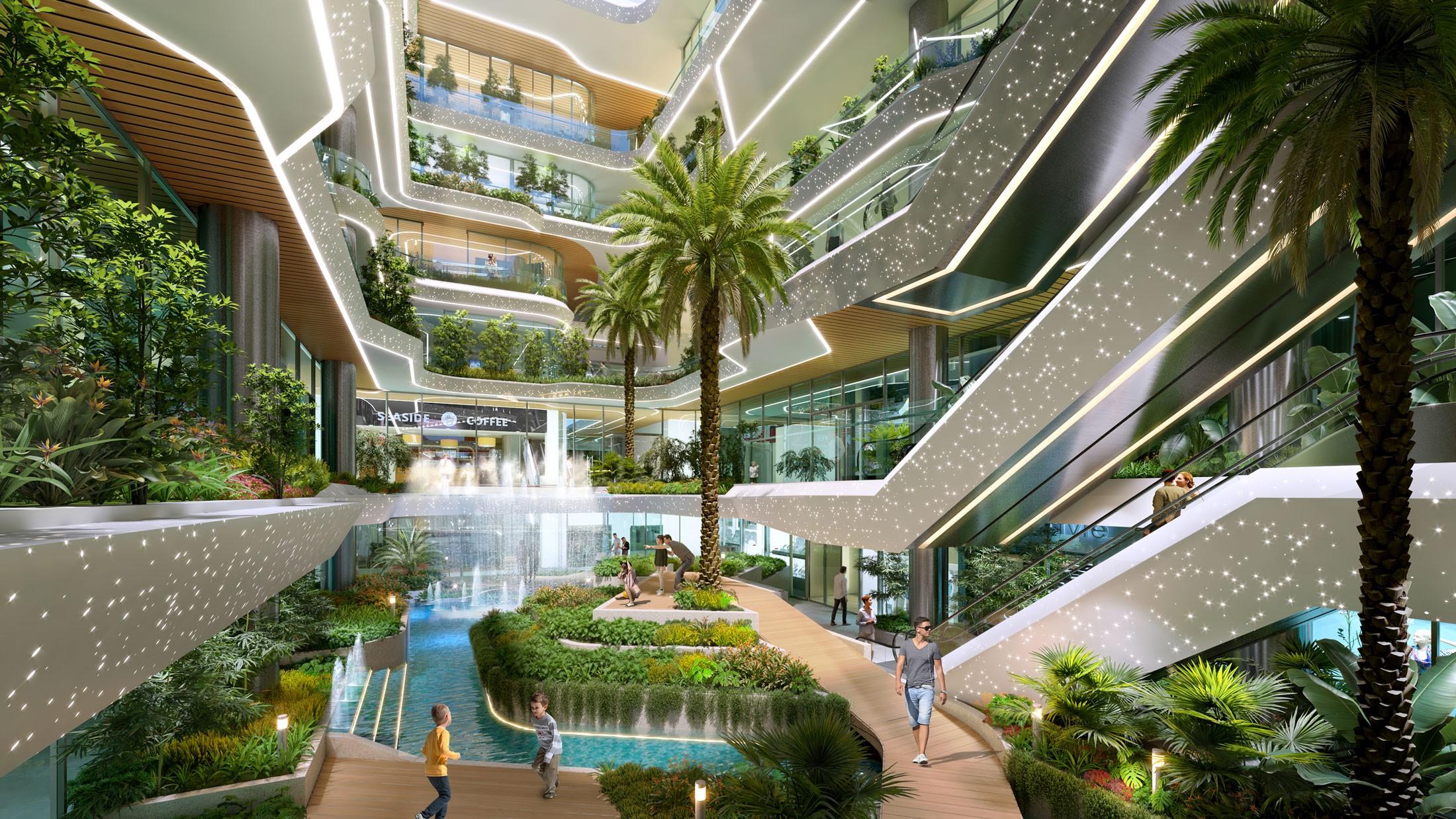 King Crown Infinity mang sắc xanh vào không gian sống. Ảnh phối cảnh: Đơn vị phát triển dự án BCG Land.