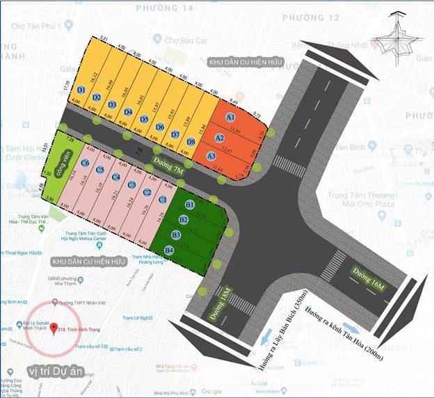 Bản đồ vị trí và quy hoạch dự án