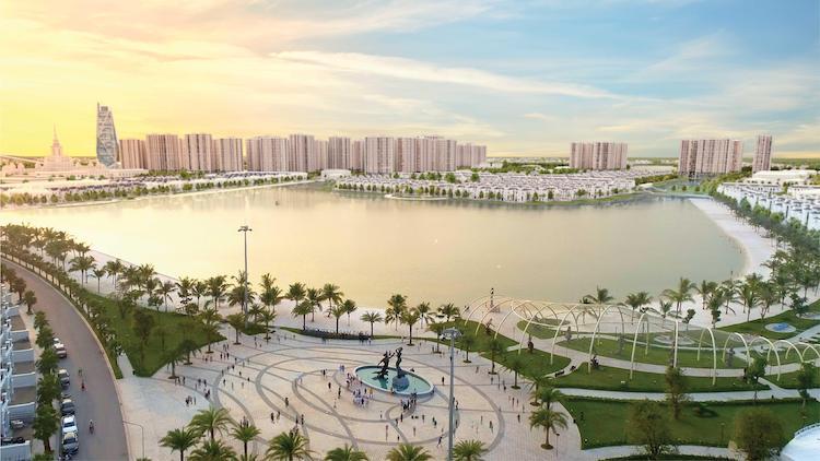 Thành phố biển hồ Vinhomes Ocean Park. Ảnh: Vinhomes.