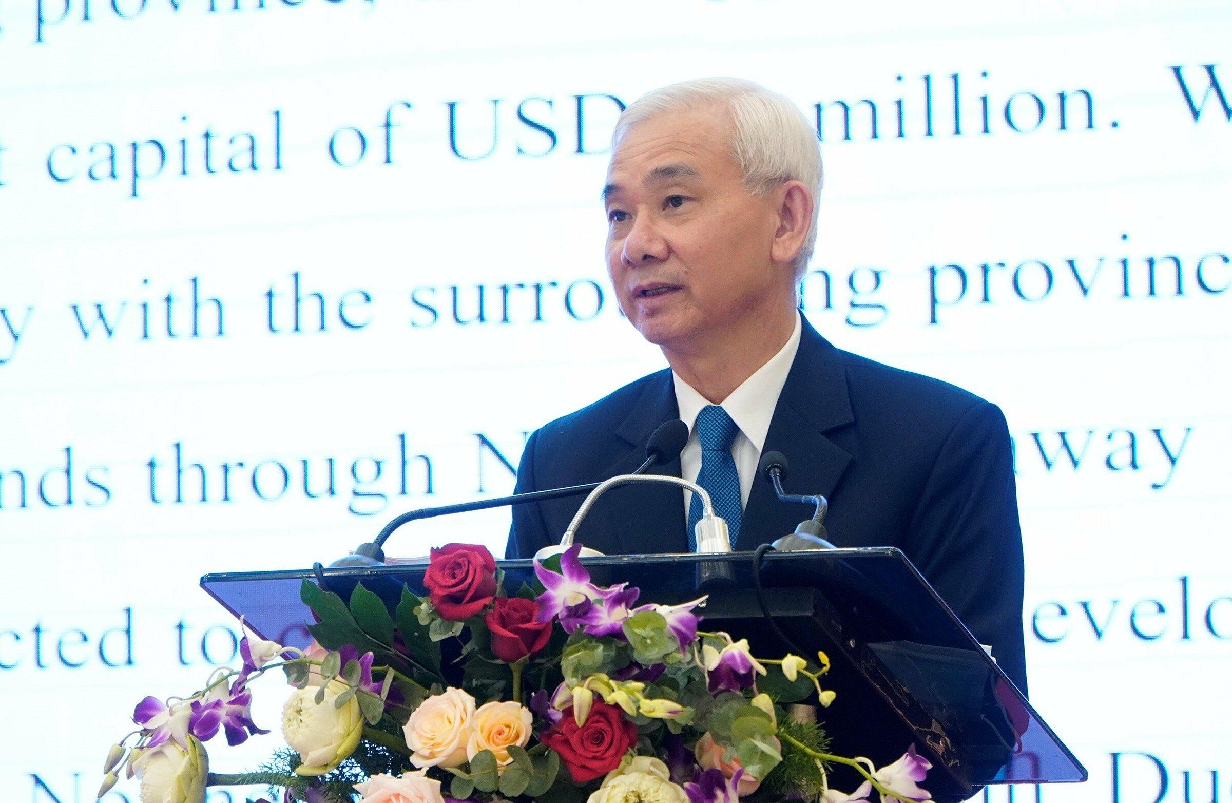 Ông Phạm Ngọc Thuận, Tổng Giám đốc Becamex IDC, phát biểu tại buổi lễ. Ảnh: Becamex IDC.