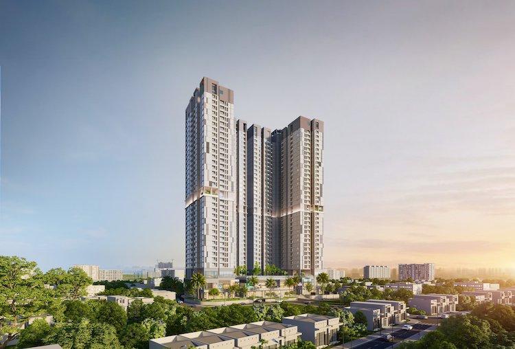 Phối cảnh dự án HT Pearl - căn hộ cao cấp tại Bình Dương.