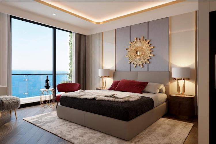 Phối cảnh phòng ngủ tại The Ruby Hạ Long.