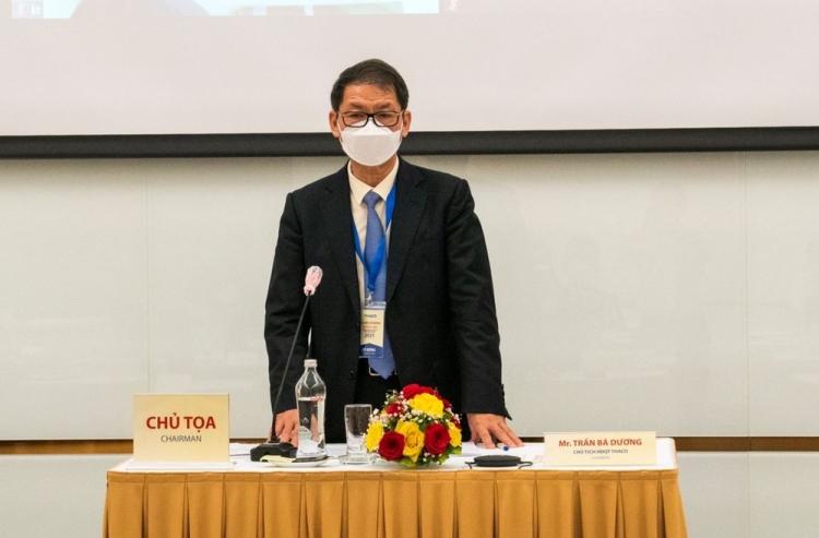 Ông Trần Bá Dương tại phiên họp chiều 31/5. Ảnh: Thaco.