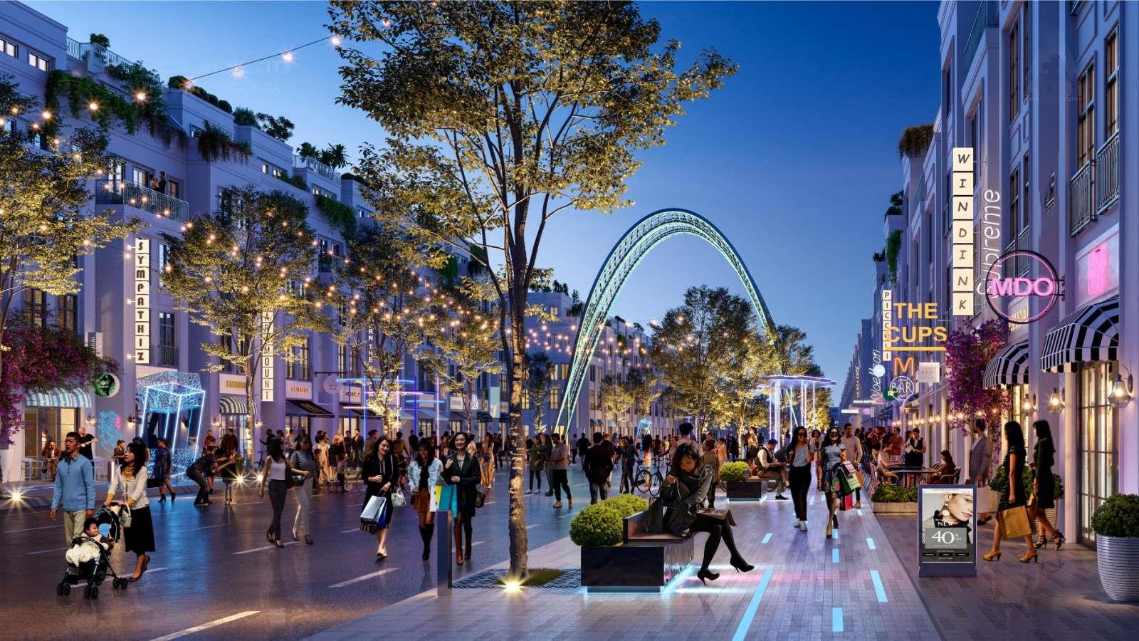 Nhịp sống sôi động tại Stella Mega City tương lai. Ảnh phối cảnh: KITA Group.