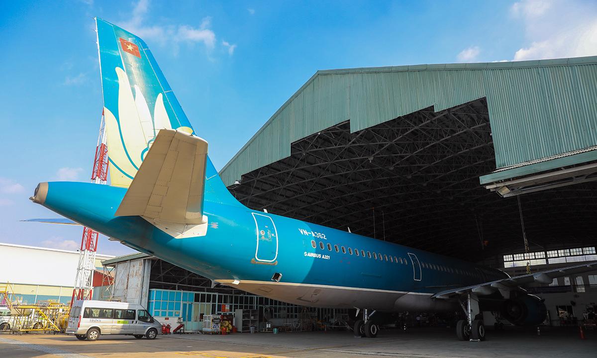 Một tàu bay Airbus A321 CEO của Vietnam Airlines. Ảnh: Quỳnh Trần