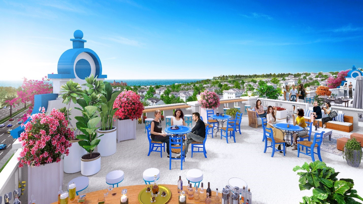 Tầng thượng của boutique hotel tại NovaWorld Phan Thiet với không gian mở hướng biển hiếm có thích hợp để kinh doanh dịch vụ F&B. Ảnh phối ảnh: Novaland.