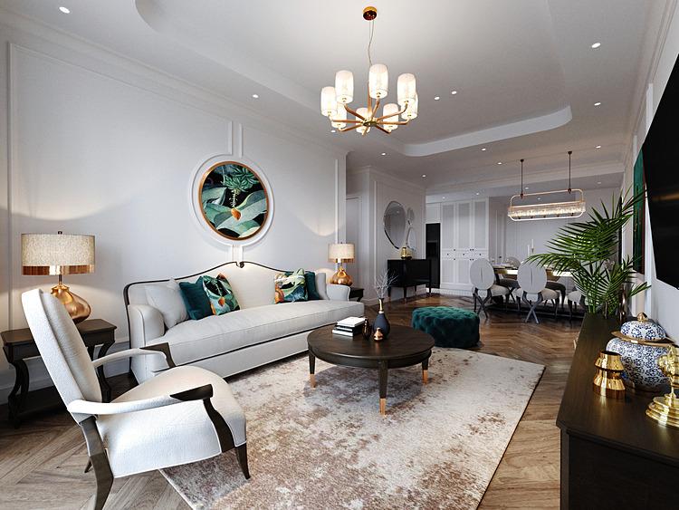 Thiết kế phòng khách căn hộ BerRiver Jardin.