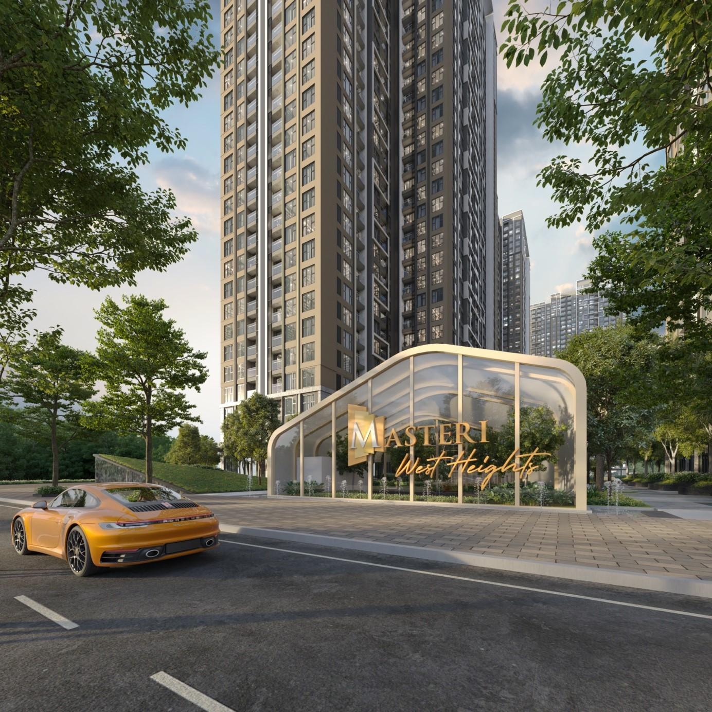 Masterise West Heights - bất động sản mang chuẩn quốc tế ở phía Tây thủ đô. Ảnh phối cảnh: Masterise Homes.