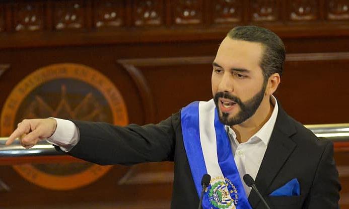 Tổng thống El Salvador, Nayib Bukele. Ảnh: Bloomberg
