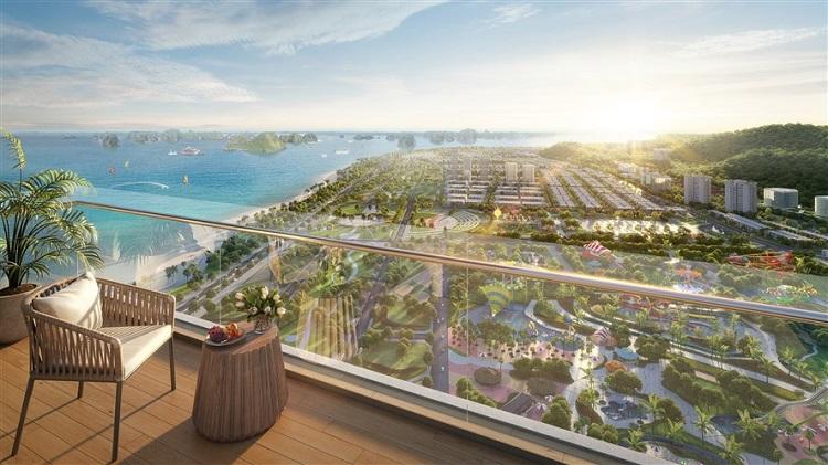 View đại dương từ ban công Sun Marina Town.