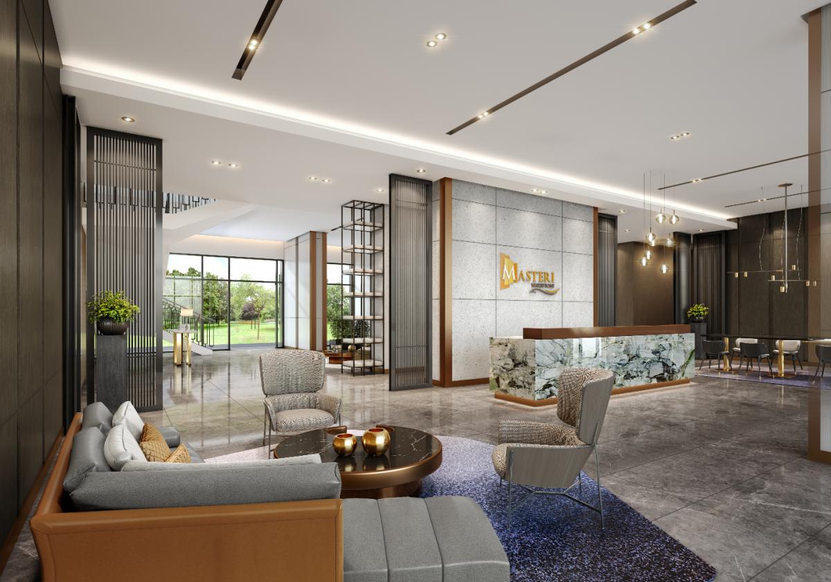 Masteri Waterfront (Gia Lâm, Hà Nội) - một trong ba dự án áp dụng giải pháp Home for Home. Ảnh phối cảnh: Masterise Homes.