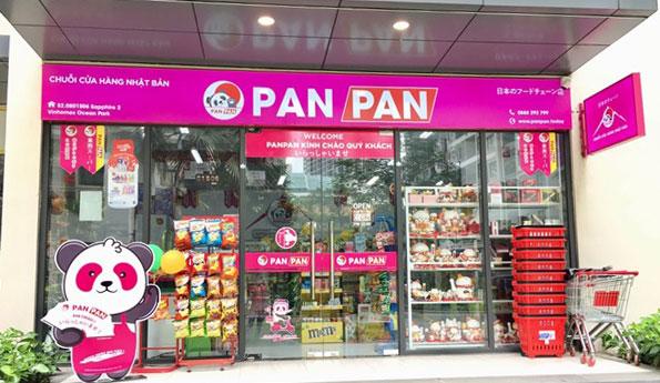 Hệ thống cửa hàng Panpan được thiết kế đồng bộ.